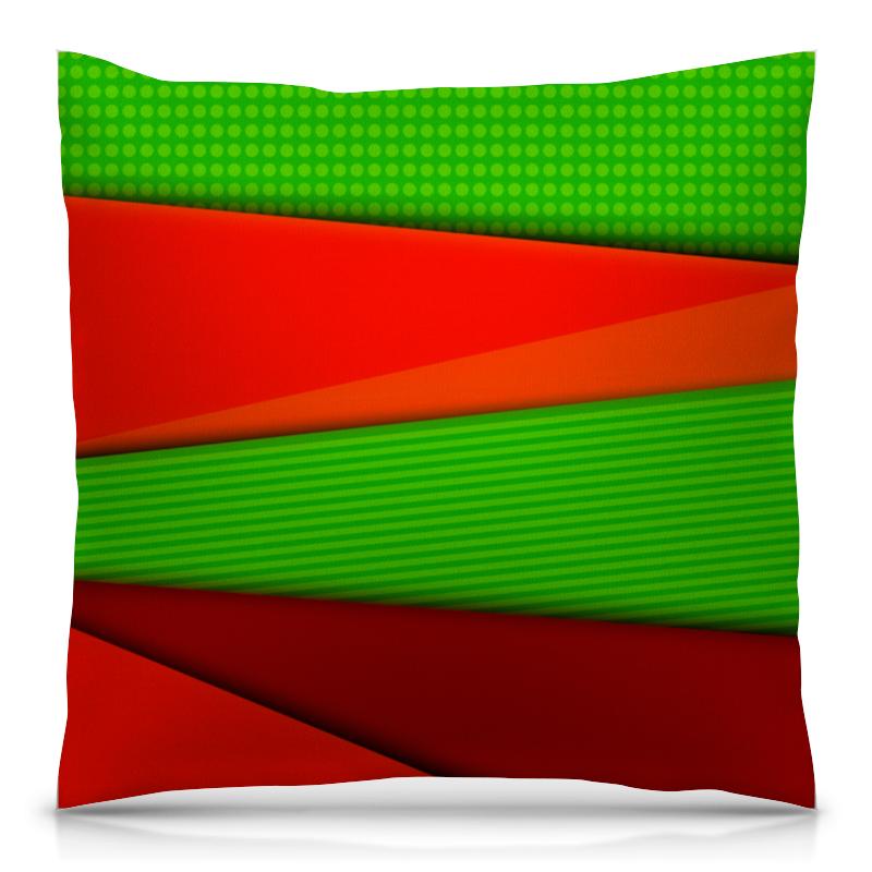 Printio Цветные полосы подушка 40х40 с полной запечаткой printio цветные брызги