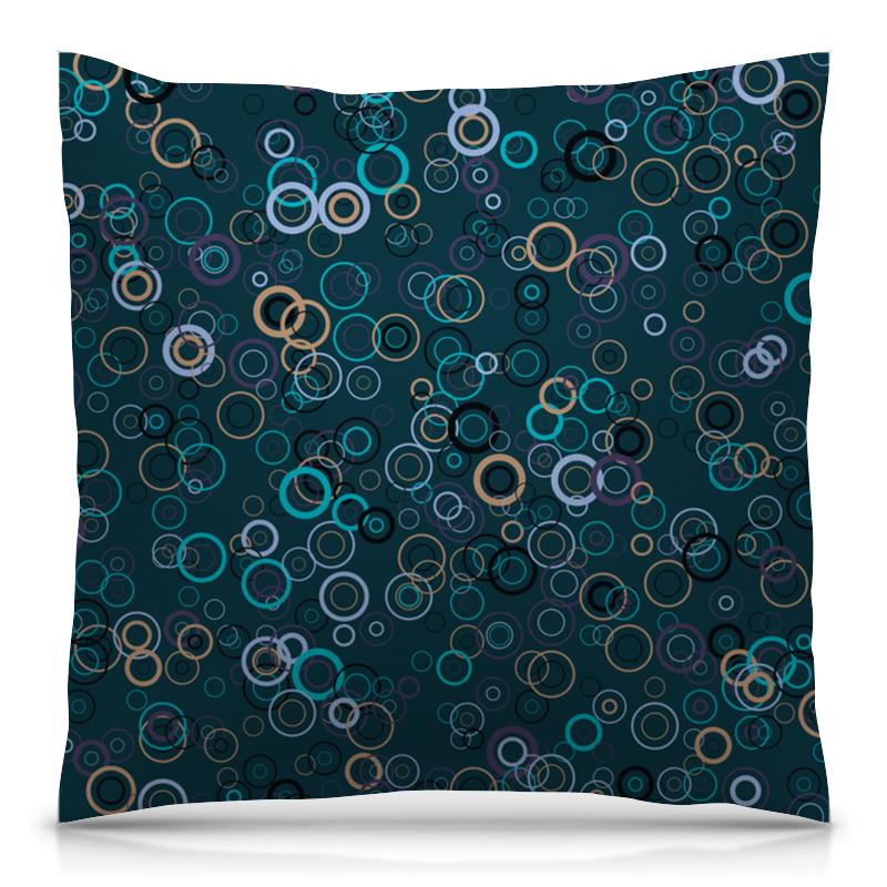 Printio Круги подушка 40х40 с полной запечаткой printio блестящие круги
