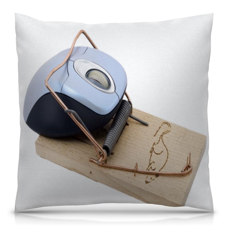 Подушка 40х40 с полной запечаткой Printio Компьютерная мышка в мышеловке