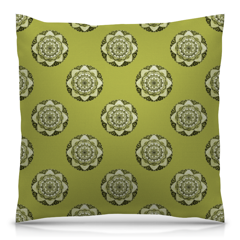Подушка 40х40 с полной запечаткой Printio Мандалы на зеленом фоне эксмо мандалы