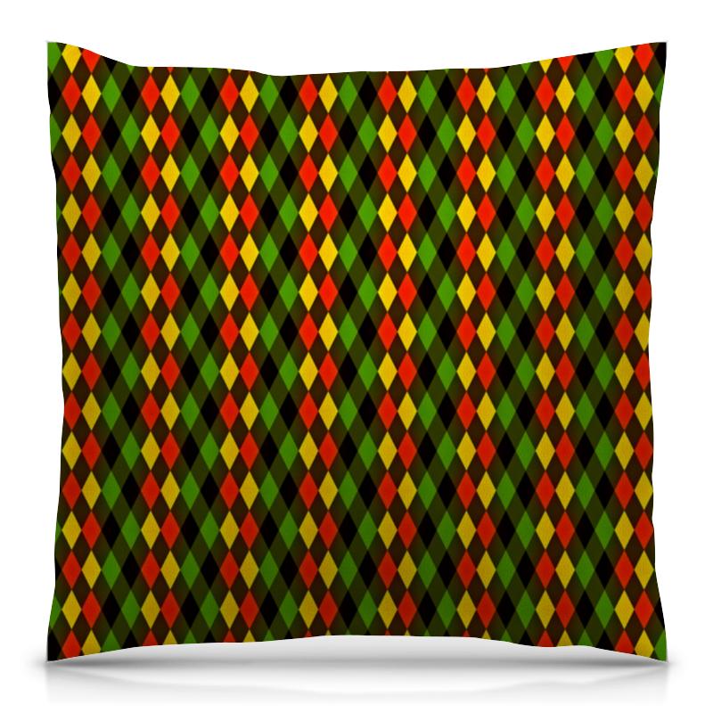 Printio Ромбы цветные подушка 40х40 с полной запечаткой printio цветные брызги