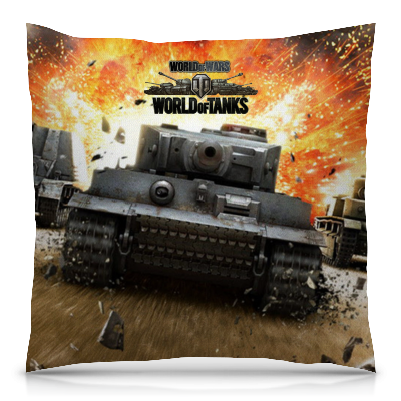 Подушка 40х40 с полной запечаткой Printio World of tanks игра настольная мир хобби world of tanks rush второй фронт