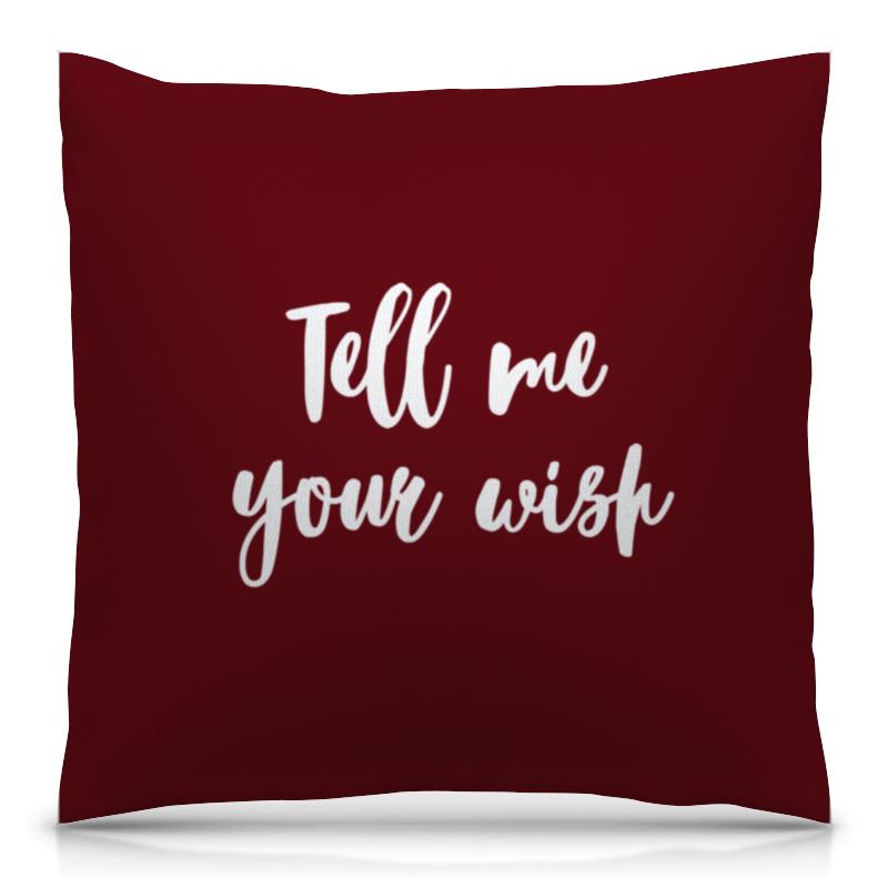 Подушка 40х40 с полной запечаткой Printio Tell me your wish блокнот printio tell me your wish