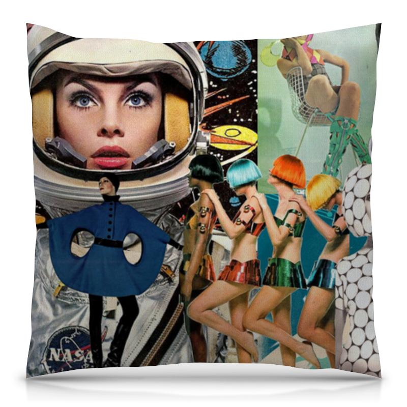 Подушка 40х40 с полной запечаткой Printio Space collage