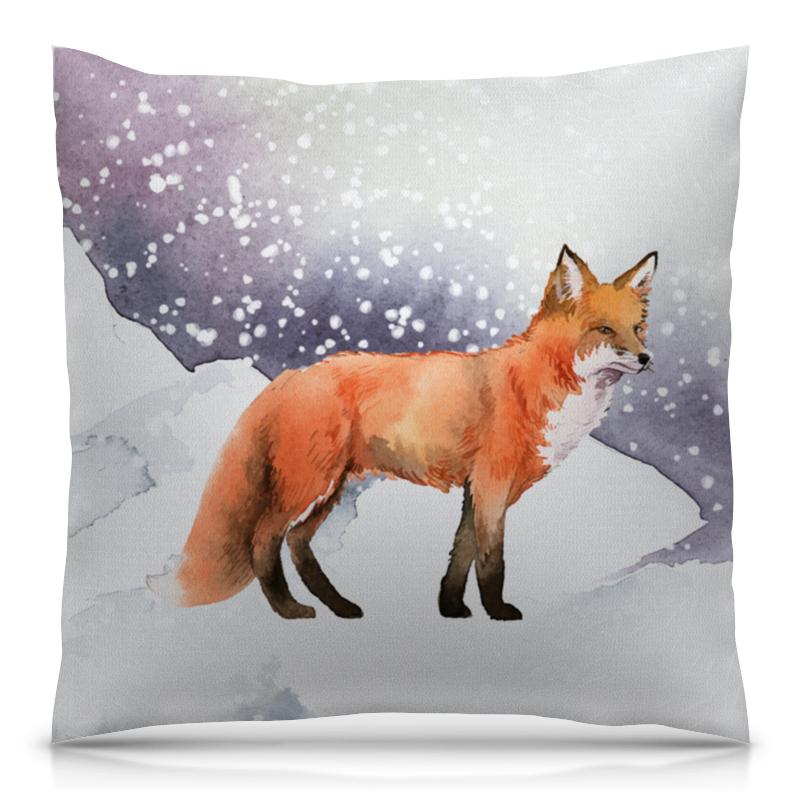 Printio Лиса ( fox) подушка 40х40 с полной запечаткой printio лиса fox