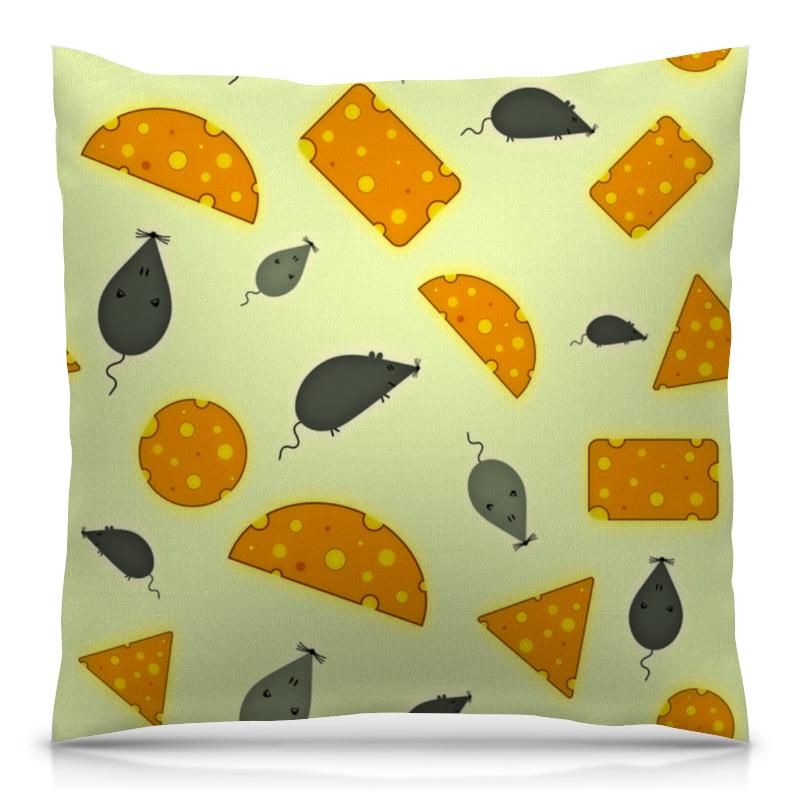 Подушка 40х40 с полной запечаткой Printio Мышь и сыр футболка с полной запечаткой для девочек printio мышь и сыр