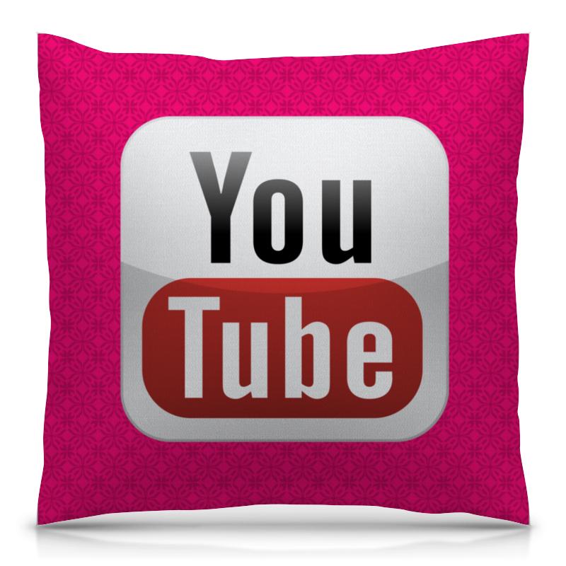 Подушка 40х40 с полной запечаткой Printio Youtube printer youtube
