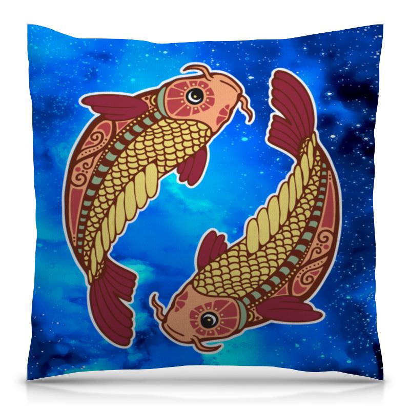 Подушка 40х40 с полной запечаткой Printio Зодиак-рыбы горячие роллы зодиак