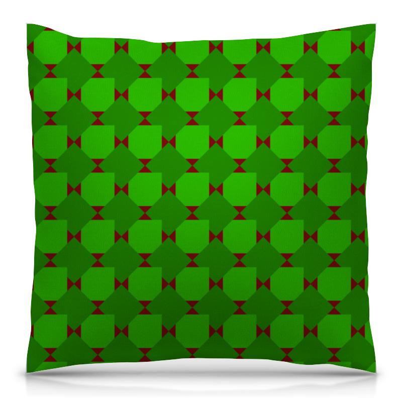 Подушка 40х40 с полной запечаткой Printio Зеленые ромбы подушка 40х40 с полной запечаткой printio ромбы
