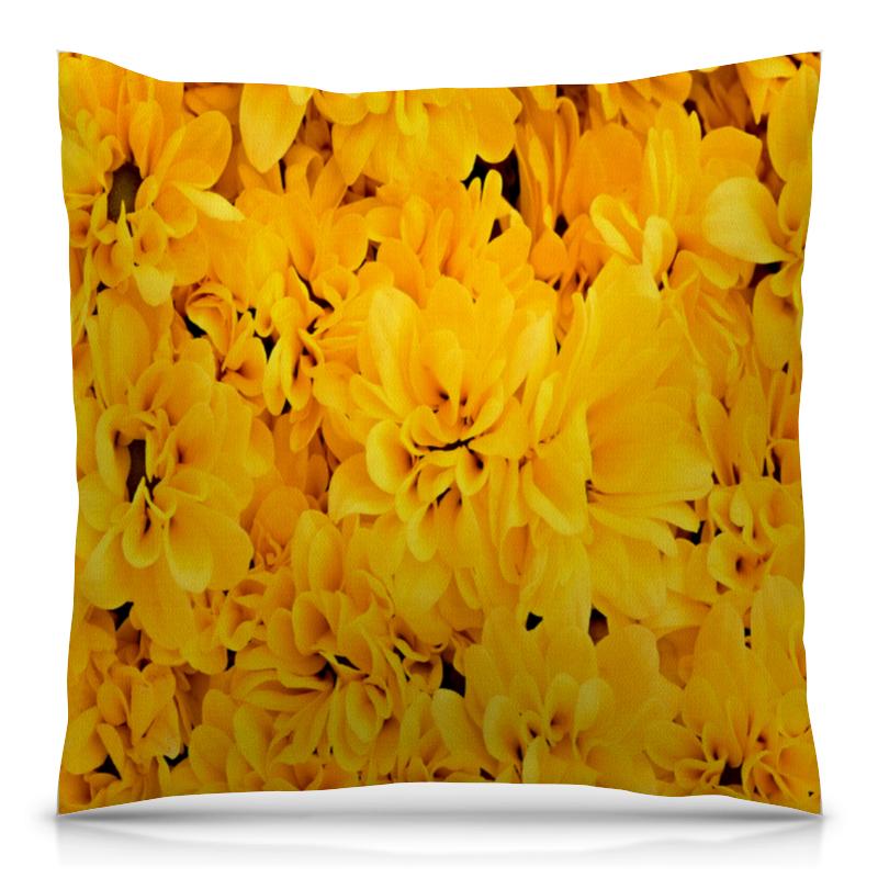 Подушка 40х40 с полной запечаткой Printio Желтые цветы рюкзак с полной запечаткой printio желтые цветы