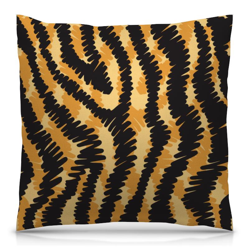 Подушка 40х40 с полной запечаткой Printio Тигровый тигровый орех купить в москве