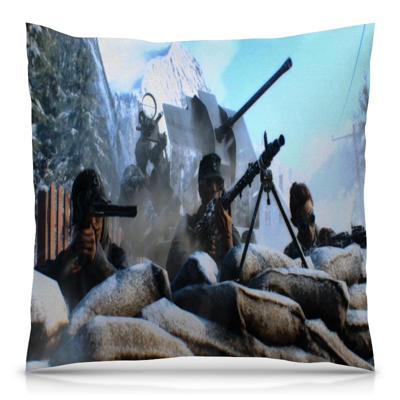 Подушка 40х40 с полной запечаткой Printio Battlefield футболка с полной запечаткой мужская printio battlefield v