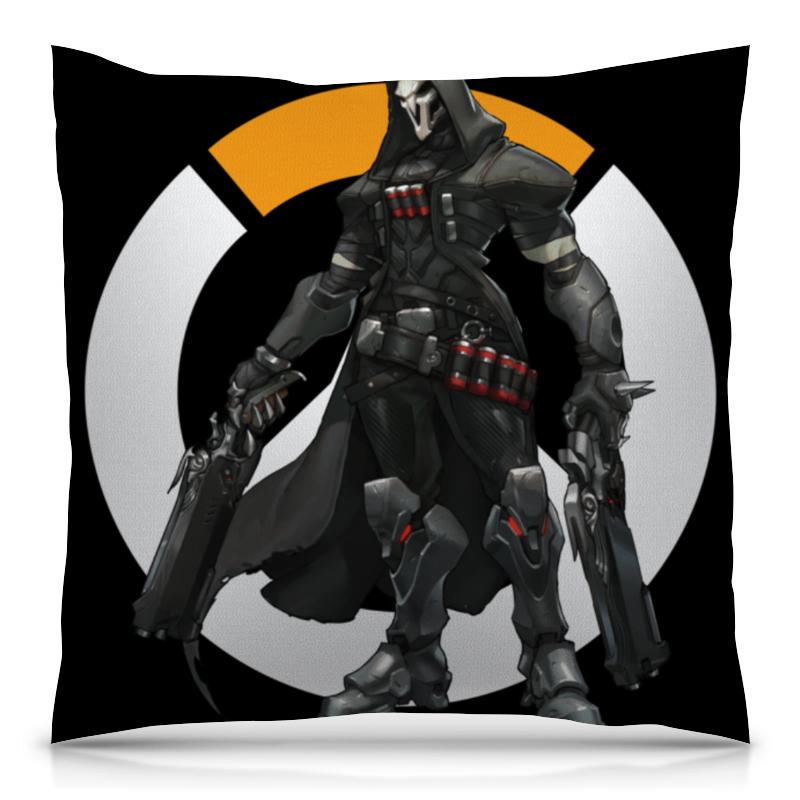 Подушка 40х40 с полной запечаткой Printio Overwatch reaper / жнец овервотч