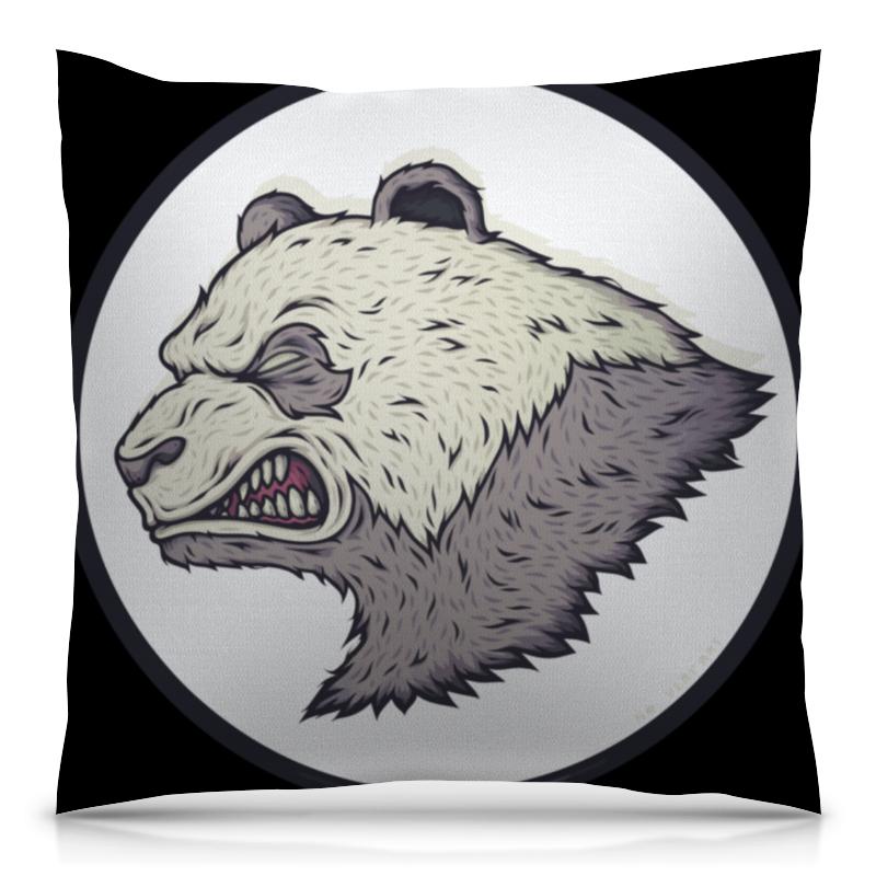 Подушка 40х40 с полной запечаткой Printio Angry panda / злая панда подушки для малыша candide подушка анатомическая панда brownish grey panda pillow 21x19 см