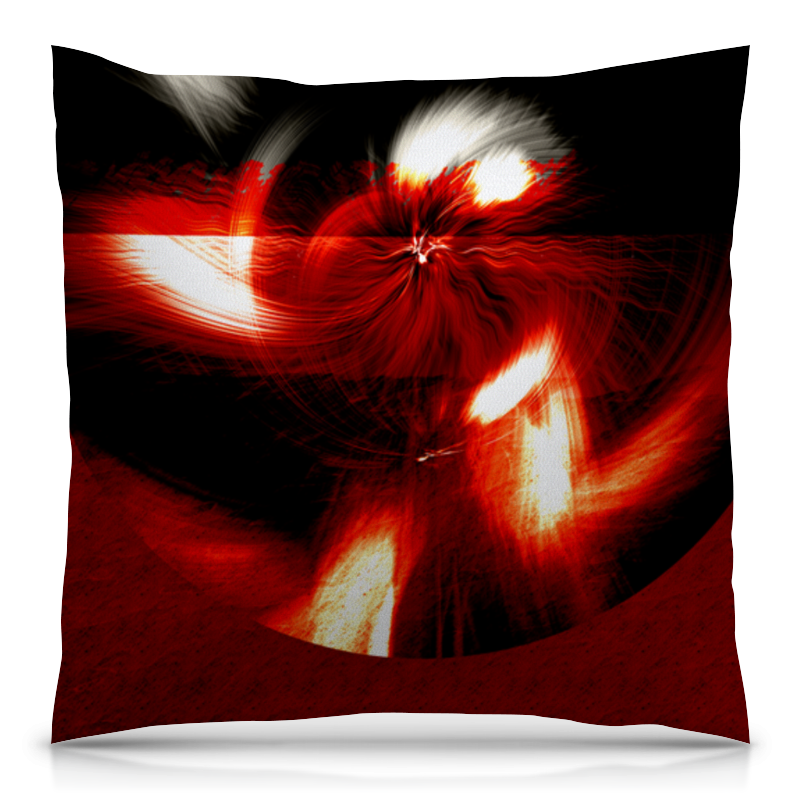 Фото - Подушка 40х40 с полной запечаткой Printio Абстракция в красном круге подушка 40х40 с полной запечаткой printio яблоко