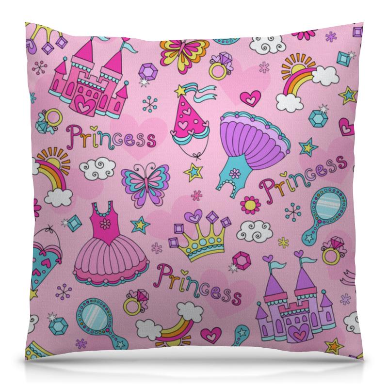 Подушка 40х40 с полной запечаткой Printio Принцесса подушка в машину принцесса