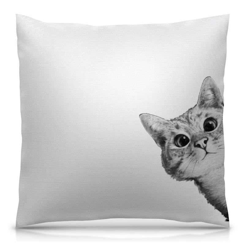 Подушка 40х40 с полной запечаткой Printio Любопытный кот