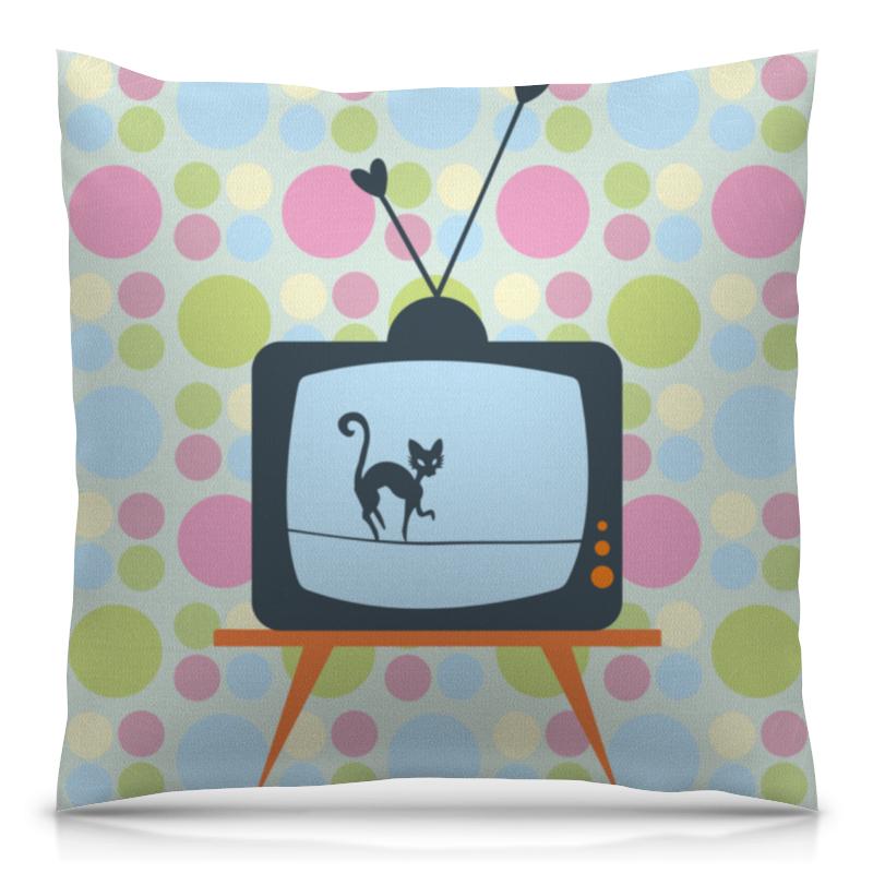 Подушка 40х40 с полной запечаткой Printio Кот на крыше оранжевый кот подушка игрушка антистресс кот спортсмен