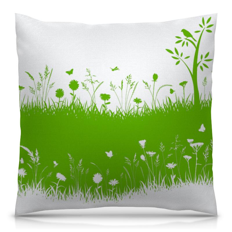 Подушка 40х40 с полной запечаткой Printio Летняя трава биолит трава ромашки 100 г