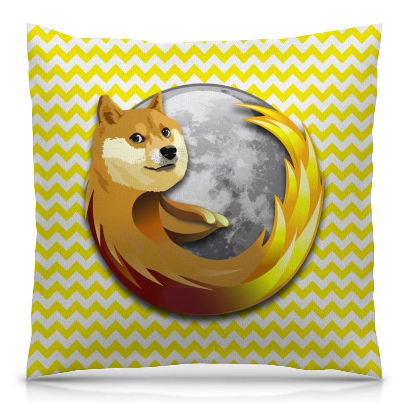 Подушка 40х40 с полной запечаткой Printio Doge firefox in the nursery in the nursery the passion of joan of arc