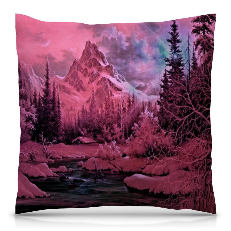 Подушка 40х40 с полной запечаткой Printio Розовый пейзаж