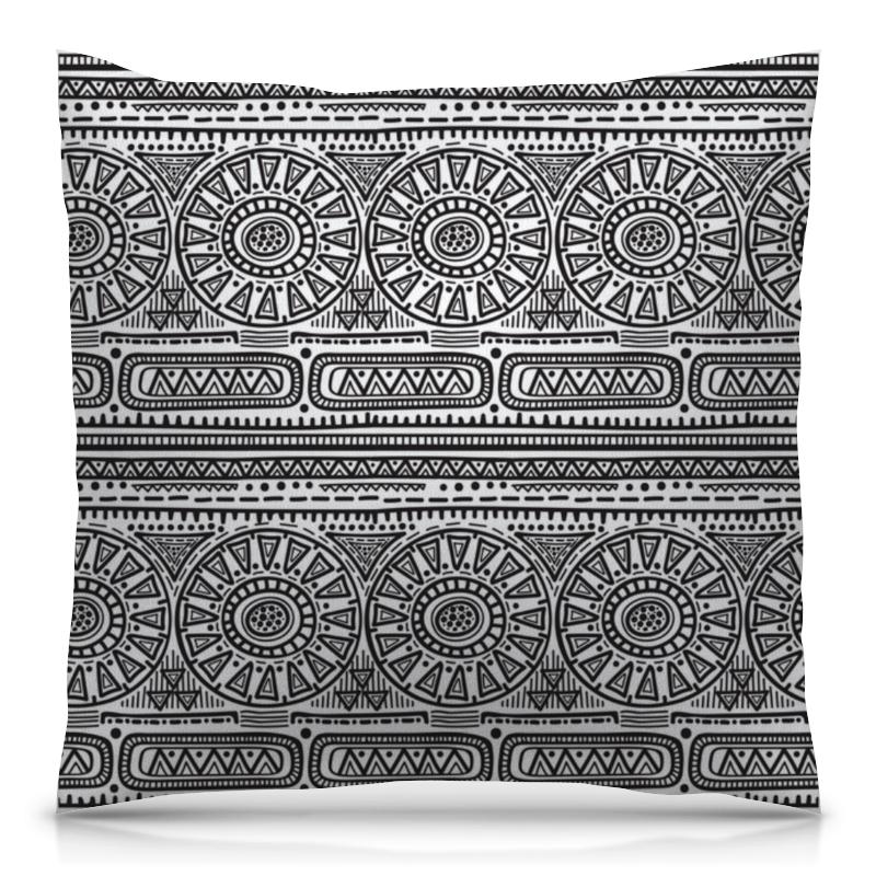 Подушка 40х40 с полной запечаткой Printio Черно-белый орнамент подушка 40х40 с полной запечаткой printio орнамент графический