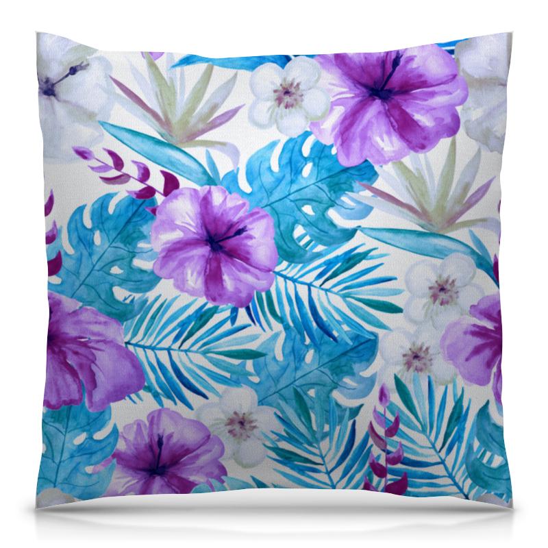 Подушка 40х40 с полной запечаткой Printio Тропические цветы