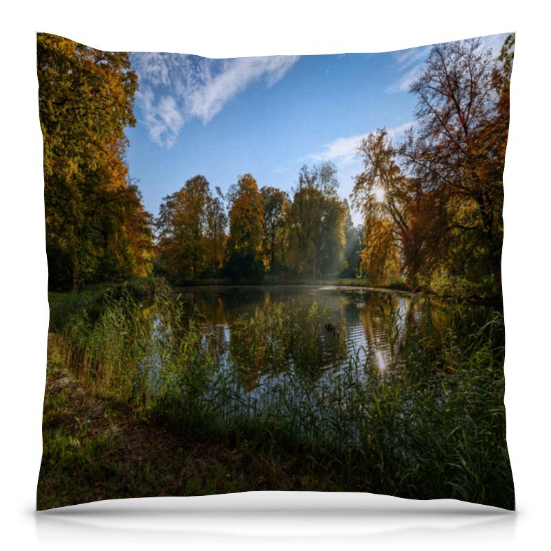 Подушка 40х40 с полной запечаткой Printio Деревья у озера