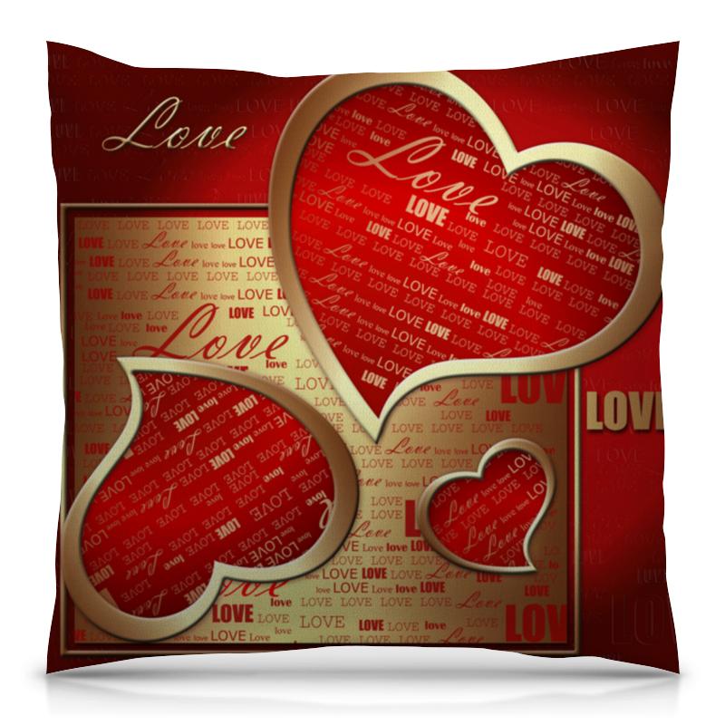 все цены на Подушка 40х40 с полной запечаткой Printio Сердце онлайн