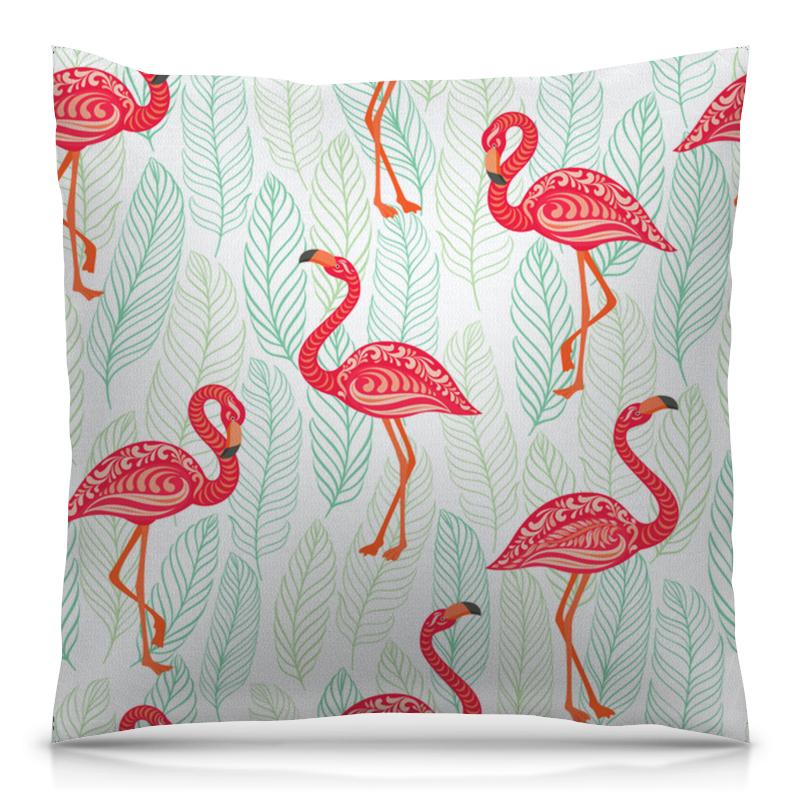 Printio Фламинго подушка с пайетками фламинго сплошная текстиль 40х40