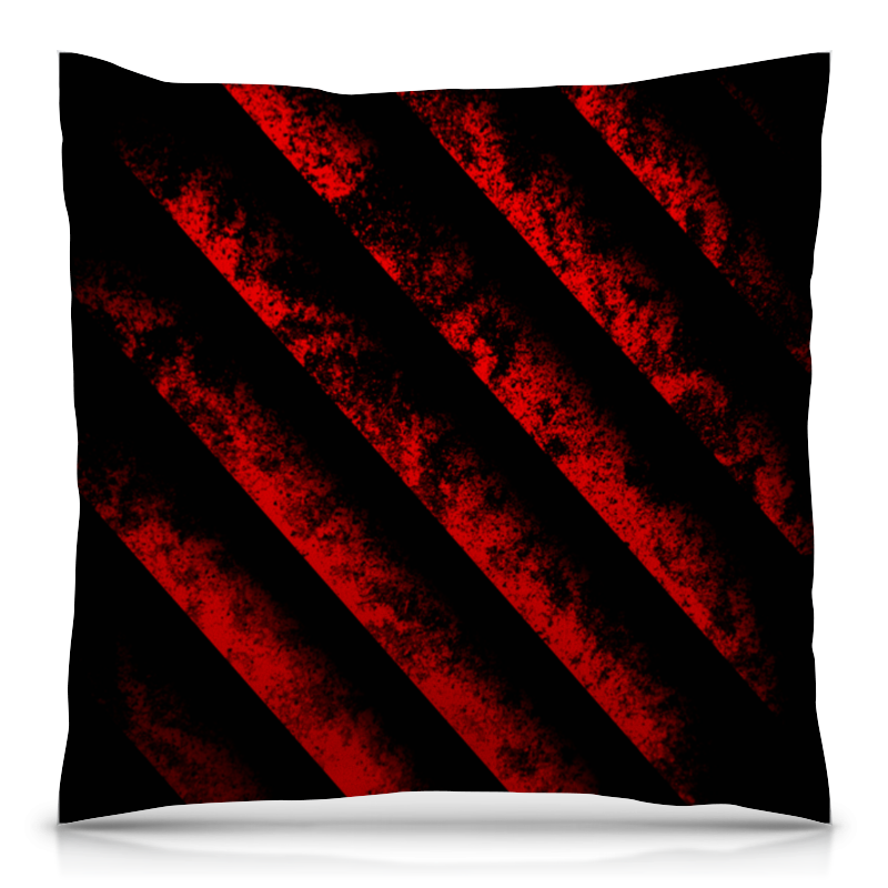 Подушка 40х40 с полной запечаткой Printio Черно-красные полосы bebendorff ботинки зимние карл черно красные