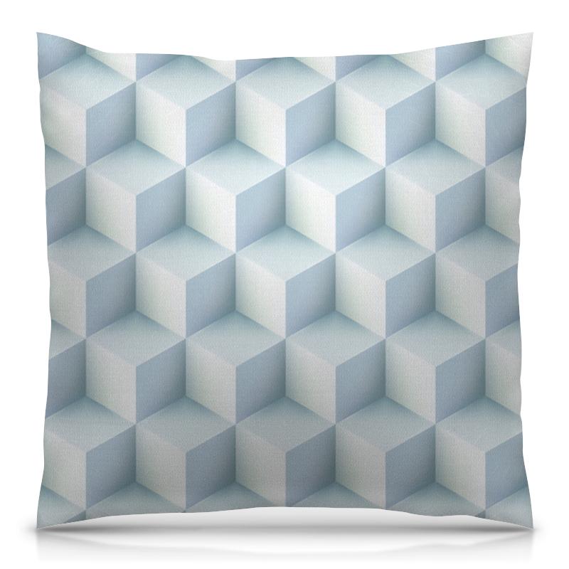 Подушка 40х40 с полной запечаткой Printio Кубическая иллюзия опасная иллюзия
