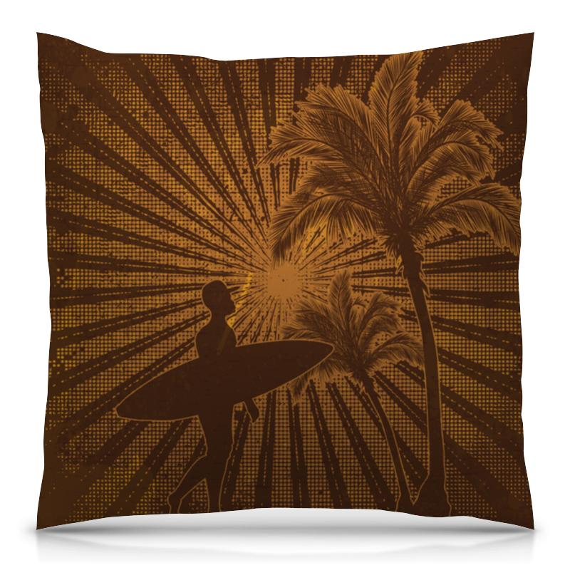 Подушка 40х40 с полной запечаткой Printio Гавайи долли нейл хижина под пальмами
