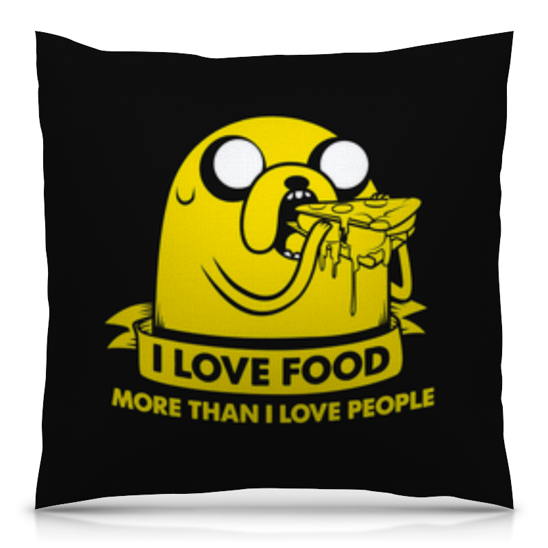 Подушка 40х40 с полной запечаткой Printio Джейк пес -  love food