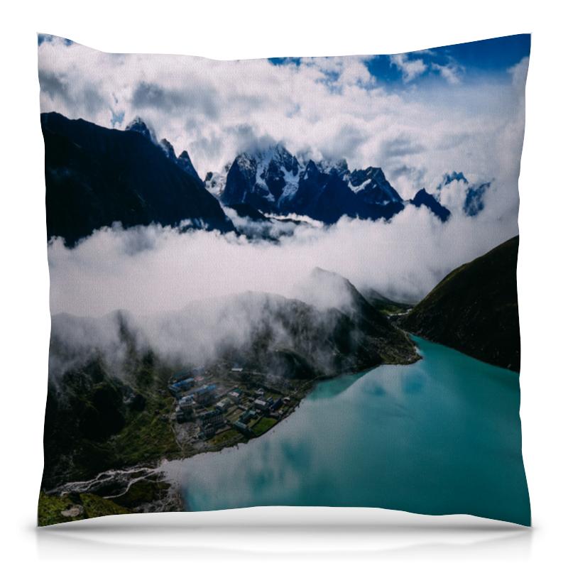 Подушка 40х40 с полной запечаткой Printio Туман в горах цветной тм туман в горах
