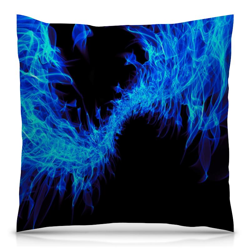Printio Синие краски подушка 40х40 с полной запечаткой printio акварельные краски