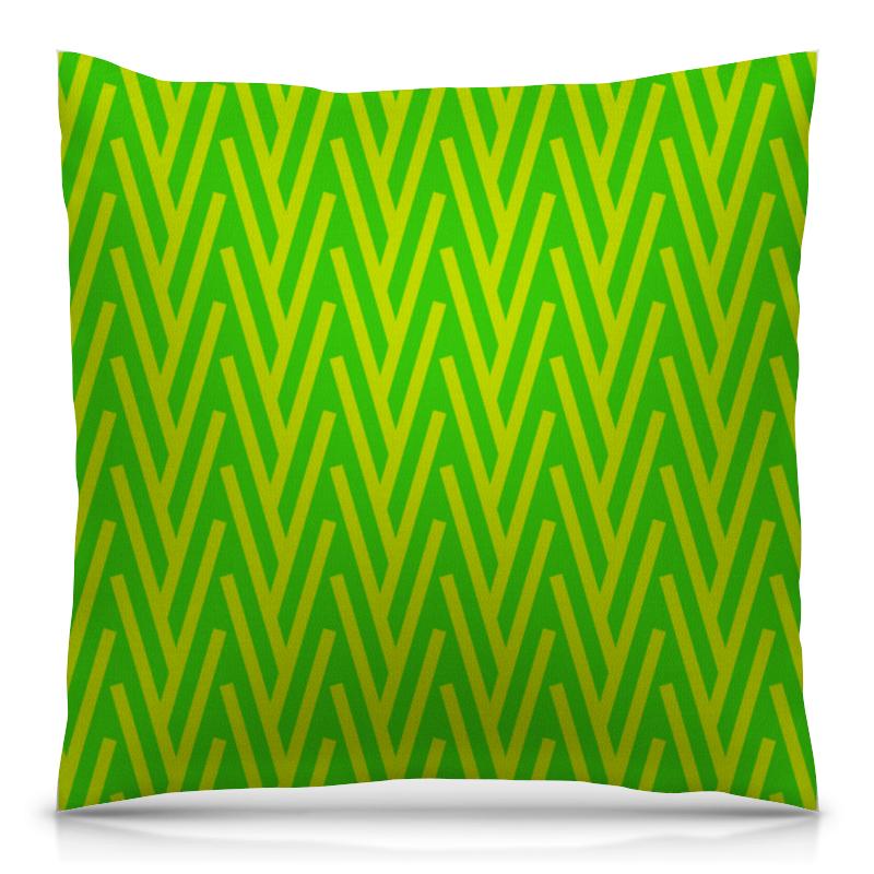 Подушка 40х40 с полной запечаткой Printio Желто-зеленый узор подушка 40х40 с полной запечаткой printio зеленый лес