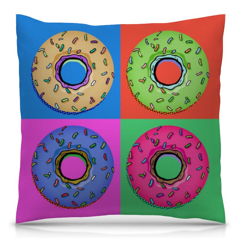 Подушка 40х40 с полной запечаткой Printio Пончики симпсоны спрингфилд игра как пончики