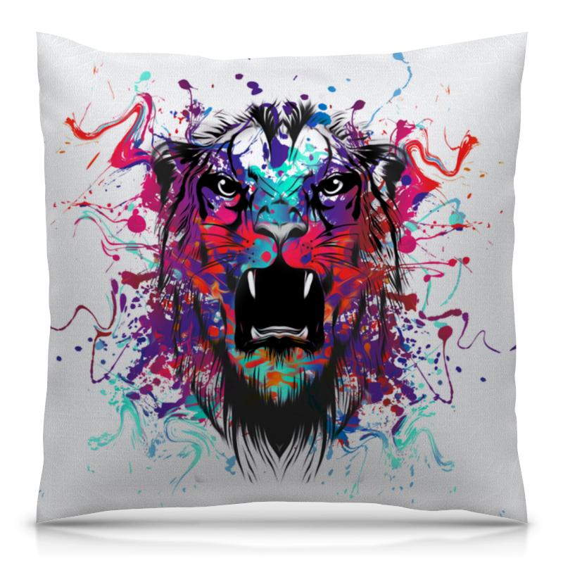 Подушка 40х40 с полной запечаткой Printio Тигр красками подушка 60х40 с полной запечаткой printio тигр красками