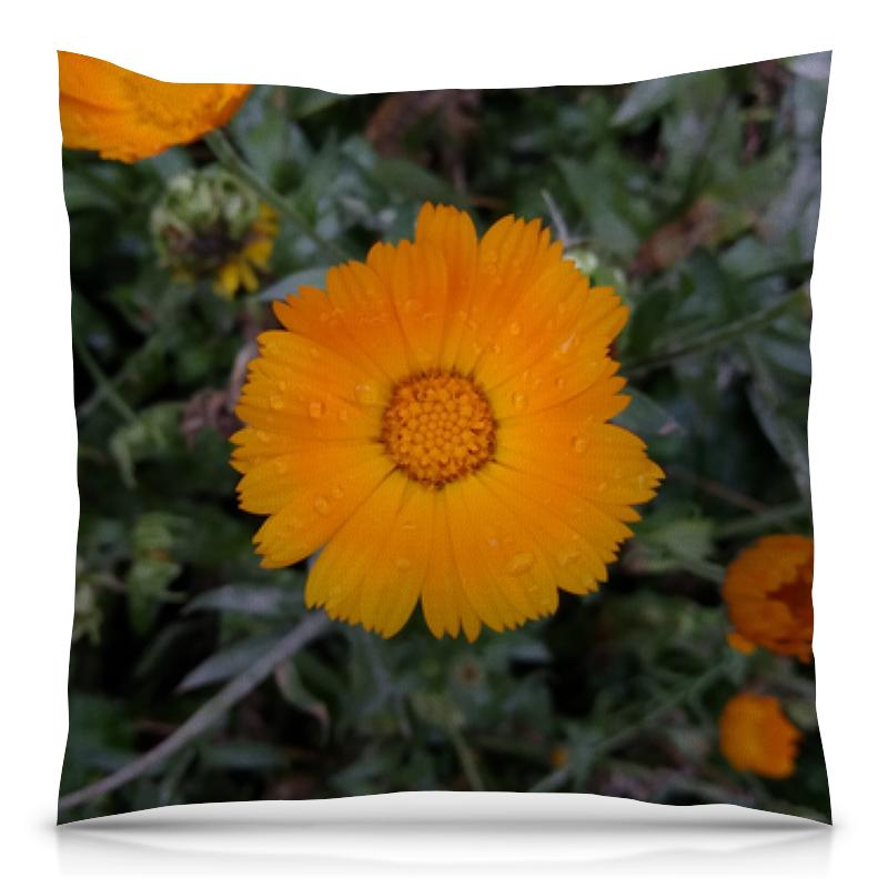 цена на Подушка 40х40 с полной запечаткой Printio Летние цветы (двусторонняя печать)