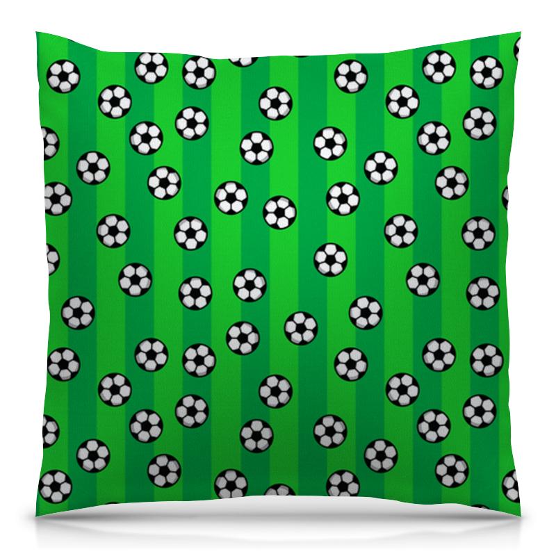 Подушка 40х40 с полной запечаткой Printio Футбольные мячи