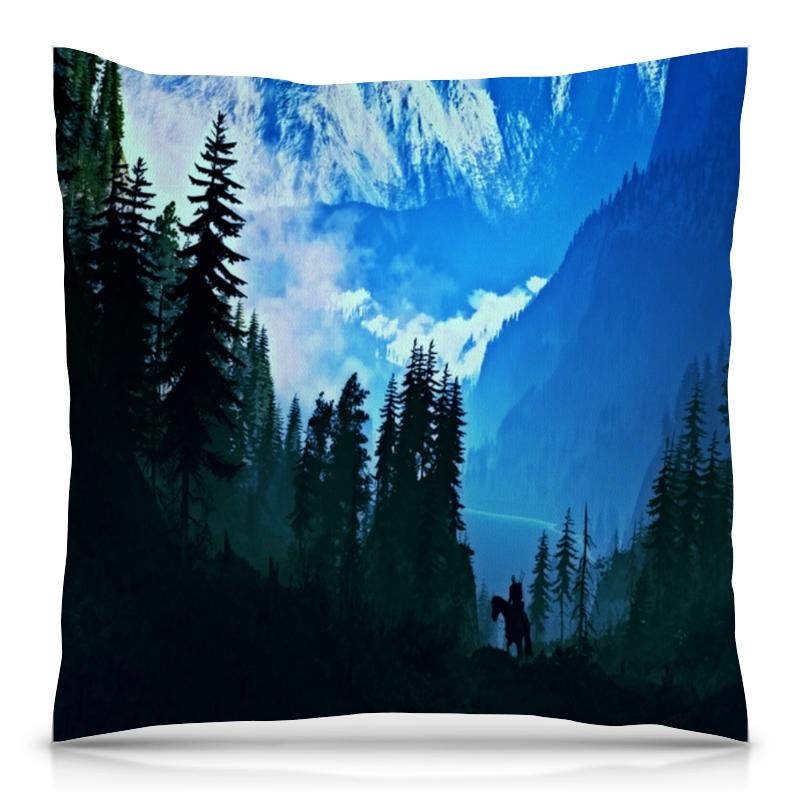 Подушка 40х40 с полной запечаткой Printio Елки в горах толстовка с полной запечаткой printio елки в горах