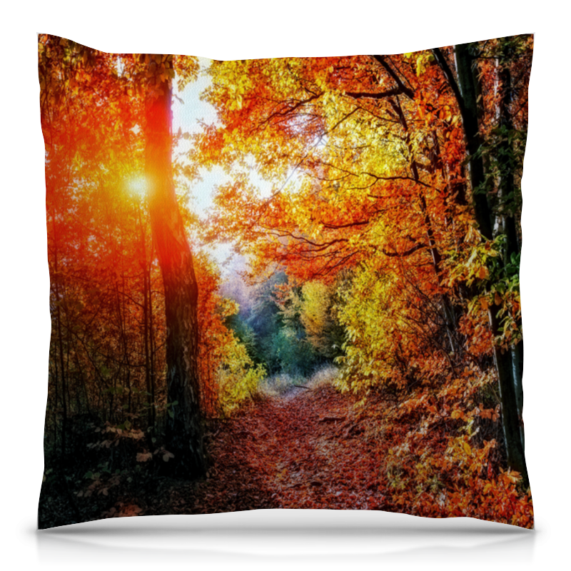 Подушка 40х40 с полной запечаткой Printio Осенний пейзаж