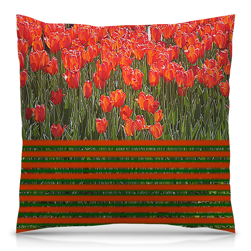 Подушка 40х40 с полной запечаткой Printio Поле тюльпанов. подушка printio поле
