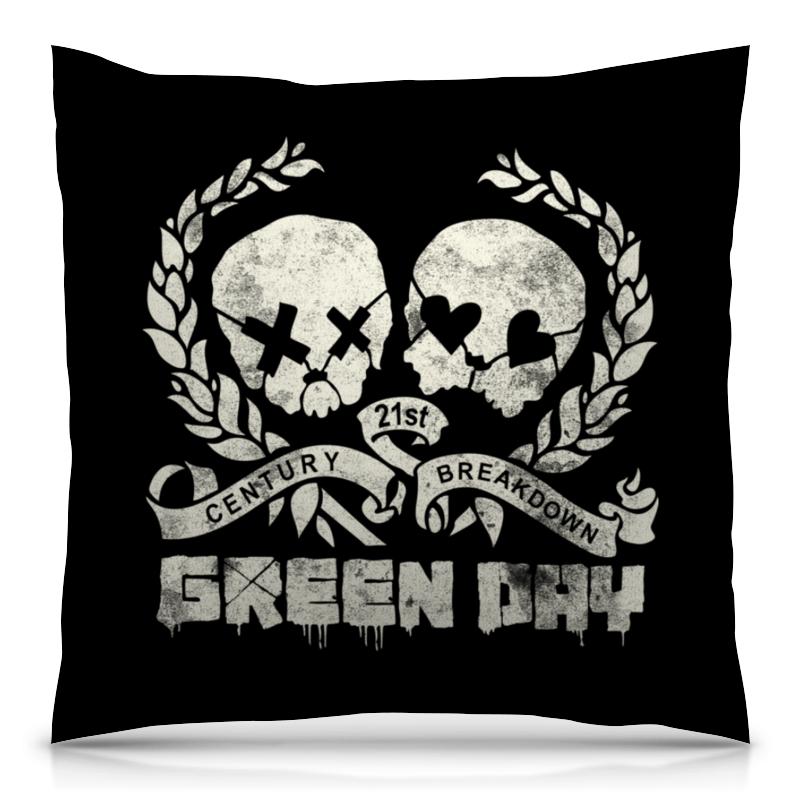 Подушка 40х40 с полной запечаткой Printio Green day