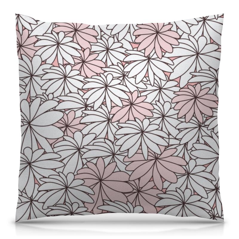 Подушка 40х40 с полной запечаткой Printio Нежные цветы блокнот кофемана нежные цветы