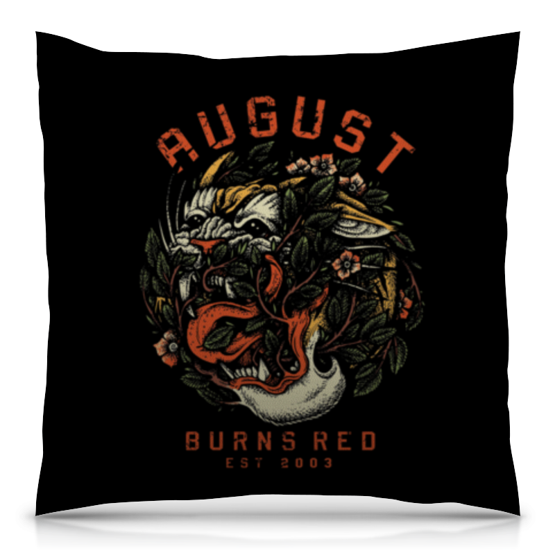 Подушка 40х40 с полной запечаткой Printio August burns red сумка с полной запечаткой printio august burns red