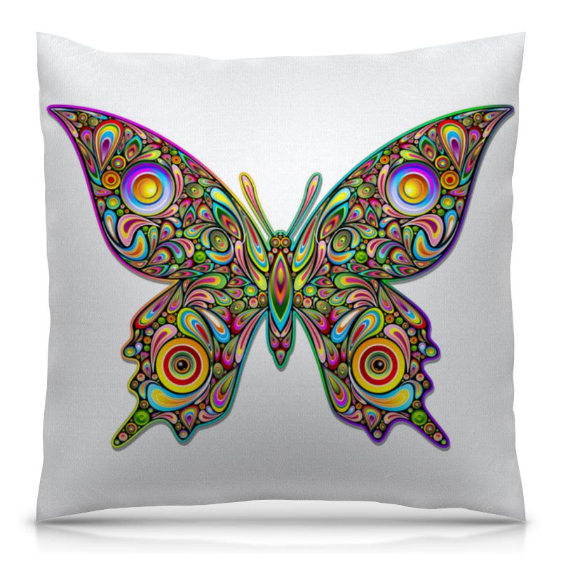 Подушка 40х40 с полной запечаткой Printio Яркая бабочка jd коллекция бабочка 6 12 месяцев красный дефолт
