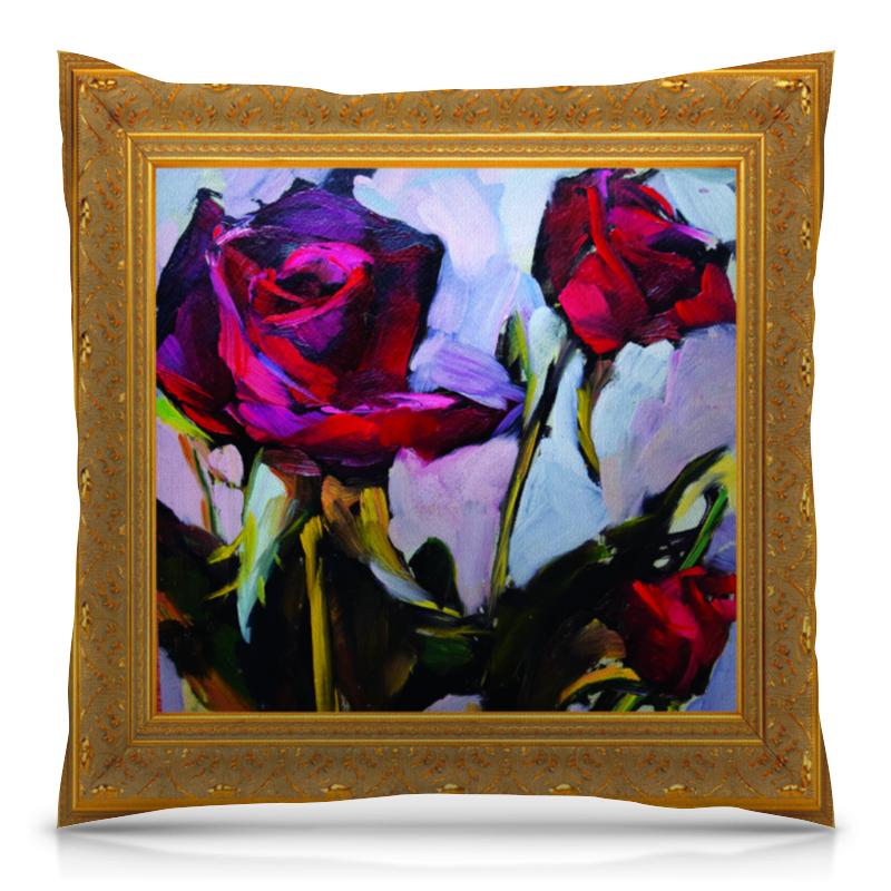 Подушка 40х40 с полной запечаткой Printio Букет из роз