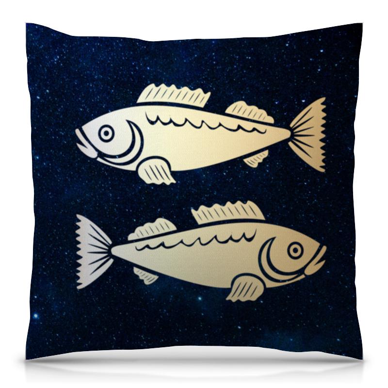 Подушка 40х40 с полной запечаткой Printio Рыбы (рыбицы) цены онлайн